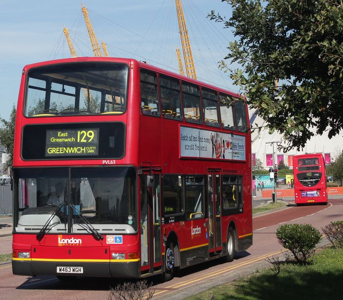 A 129 bus to Greenwich