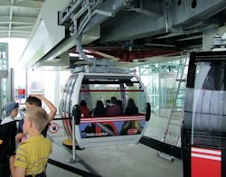 The cable car terminus at Greenwich