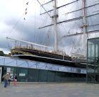 The Cutty Sark's stern