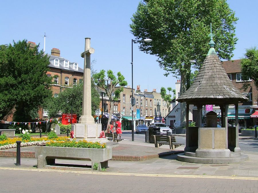 The War memorial and drinking fountain